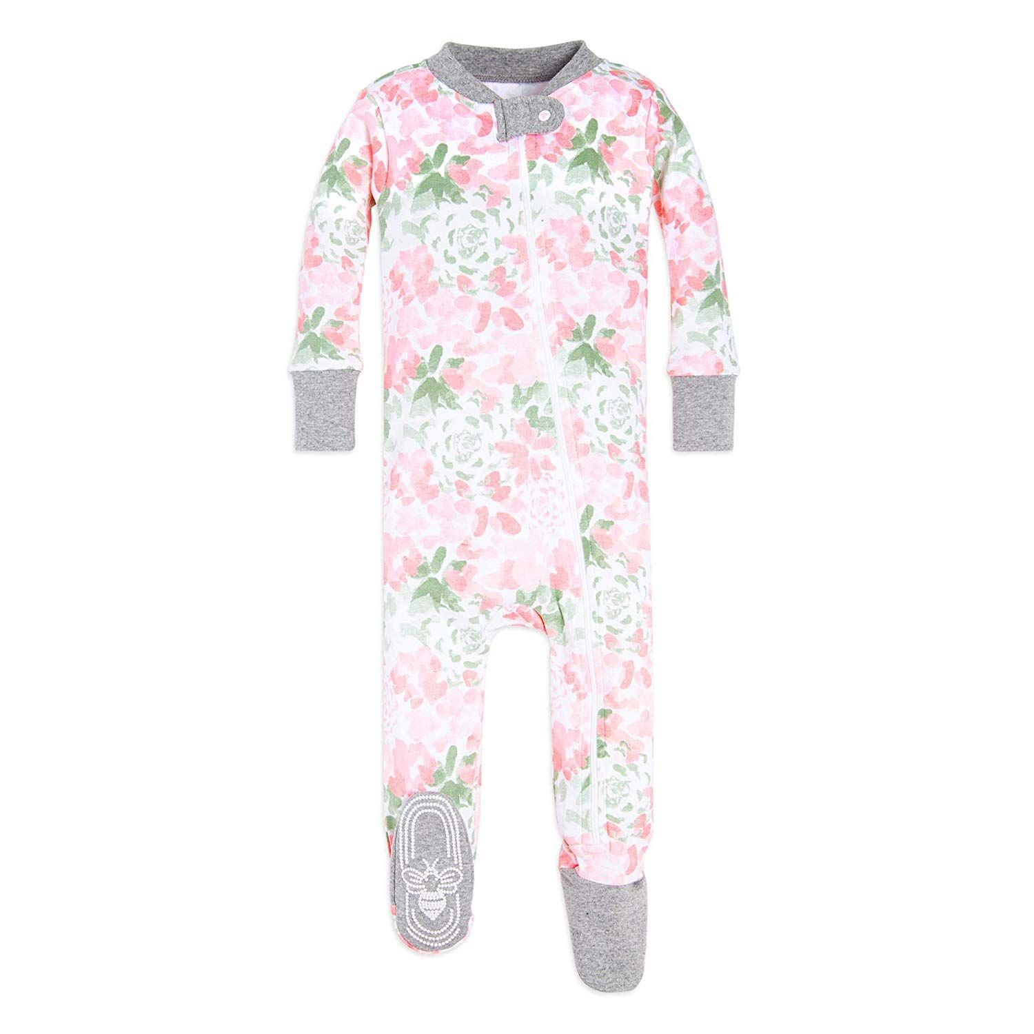 bb47cac78 Amazon.com  Burt s Bees Baby - Baby Girls  Sleeper Pajamas