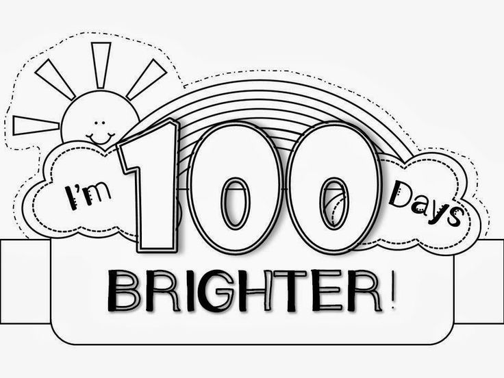 It is a picture of Ambitious 100 Days Smarter Printable