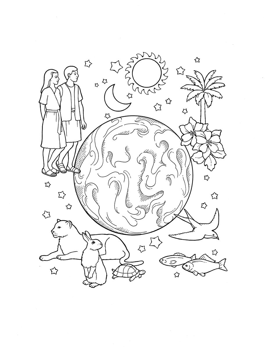 Creation Coloring Page From Lds Org Www Mormonlink Com Lds