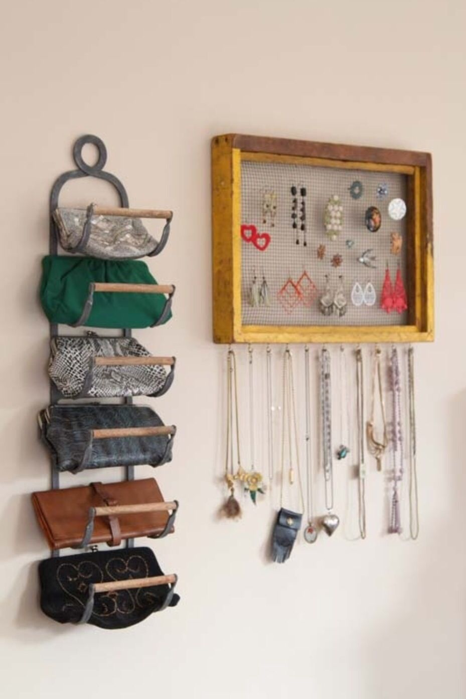 Repurpose A Wine Rack As A Purse Organizer, And 53 Seriously Life Changing  Clothing Organization Tips.