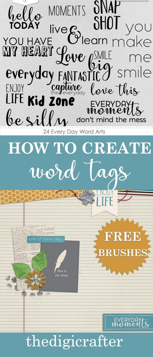 How to Create Word Tags | Learn Something New | Pinterest | Create ...