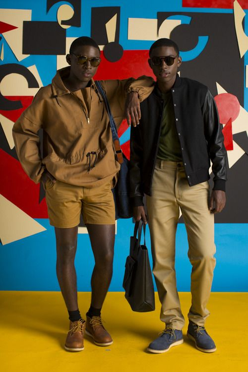 American Apparel - Jamal and Jibril in new Menswear looks for Fall.