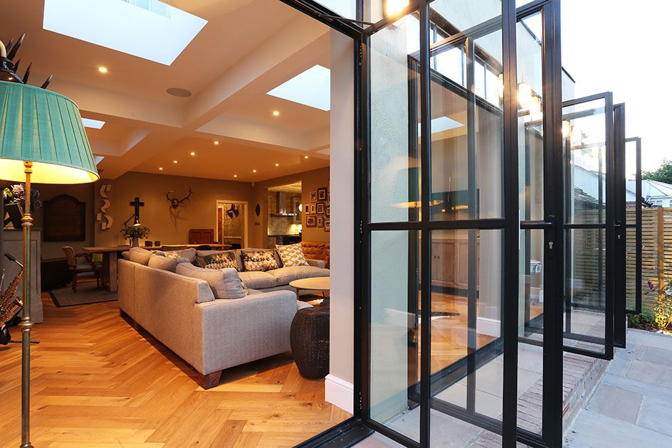 The substantial extension on this detached house features bespoke the substantial extension on this detached house features bespoke art deco style steel french doors which sciox Images