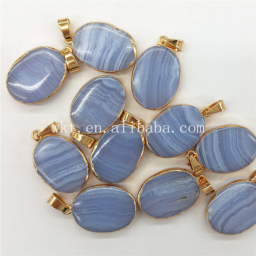 Wt p743 wkt wholesale jewelry natural blue agate pendant elegnt wt p743 wkt wholesale jewelry natural blue agate pendant elegnt color oval shape long agate aloadofball Images