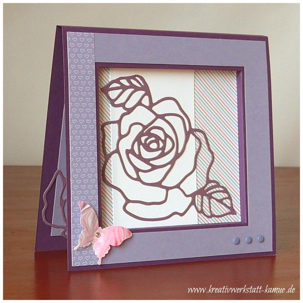 stampin up rosengarten rahmenkarte | Cards- SU Rose Wonder ...
