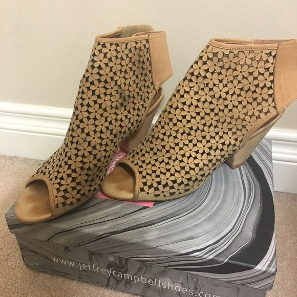 Jeffery Campbell Tan colored small heel Jeffrey Campbell Shoes Heels