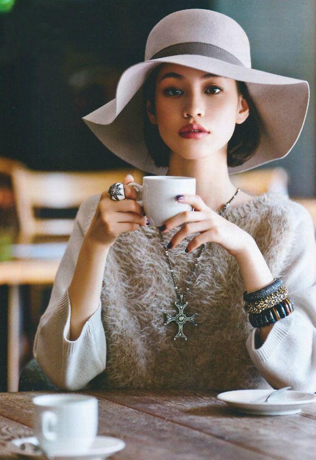 kiko mizuhara | 帽子 ファッション. レディ. 水原希子