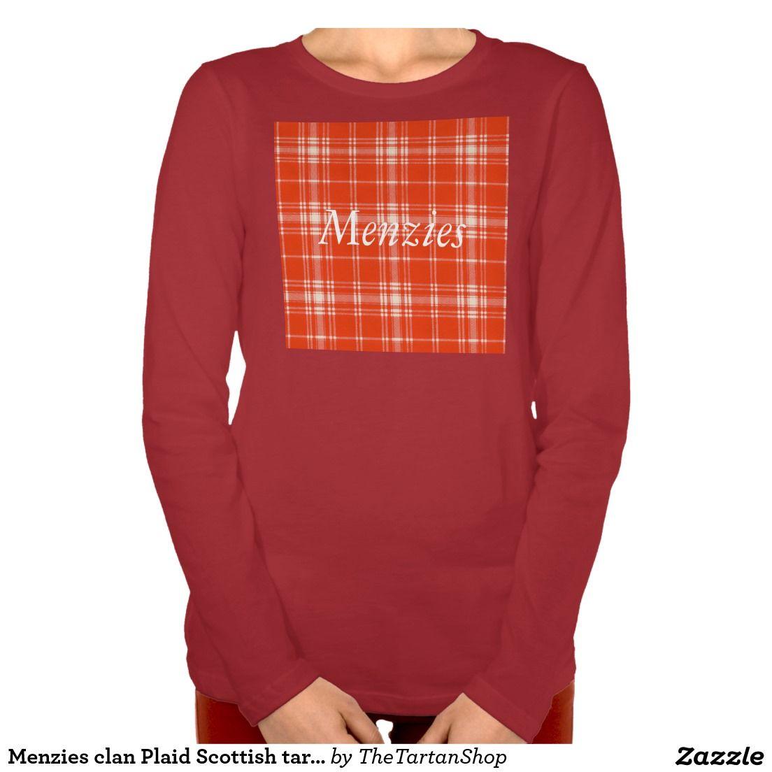 Menzies clan Plaid Scottish tartan Tee Shirt