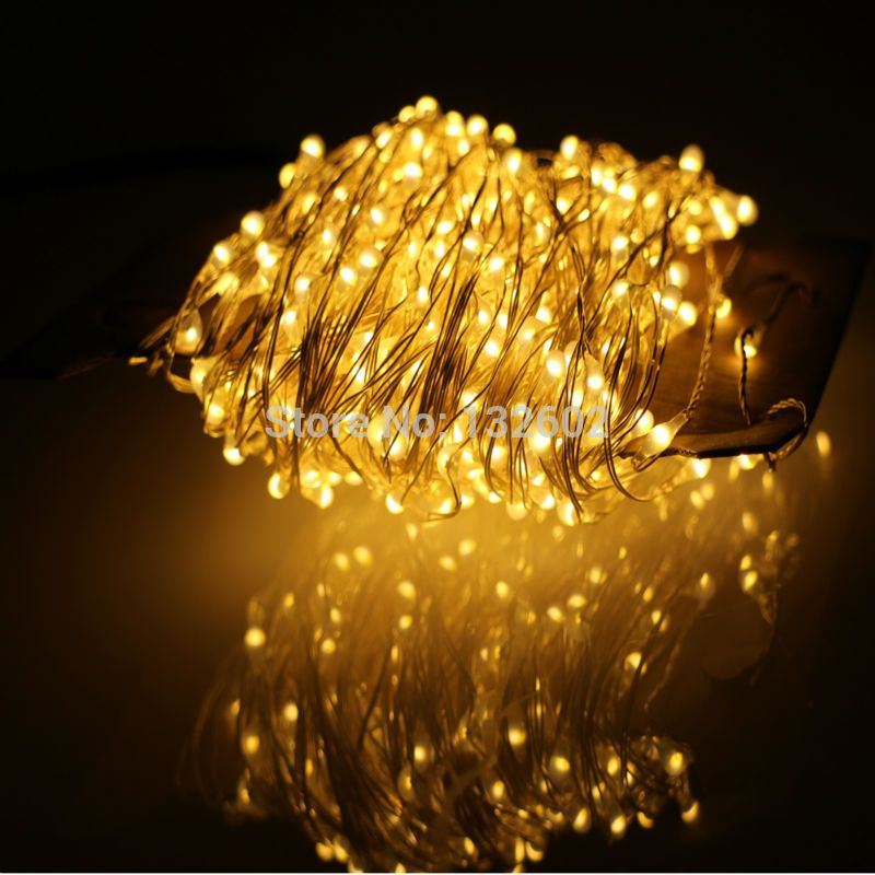 24m 480Leds Outdoor LED String Lights Warm White Silver Wire Christmas Starry Fairy Lights+Power  sc 1 st  Pinterest & 24m 480Leds Outdoor LED String Lights Warm White Silver Wire ...