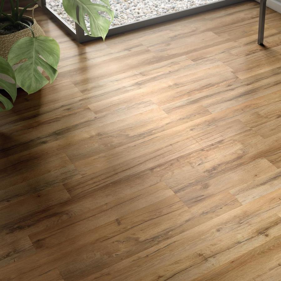 Style Selections Tavern Oak 7 59 In W X 4 23 Ft L Embossed Wood Plank Laminate Flooring At L Flooring Laminate Flooring Laminate Wood Flooring Colors