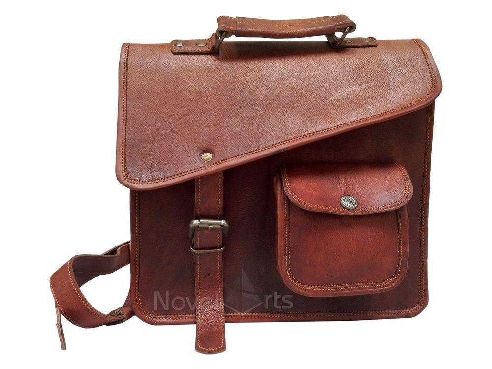 Briefcase Bag Laptop Bag Gift for him her Leather Messenger Bag Shoulder Crossbody Vintage Goat Leather Handmade Bag for Men and Women