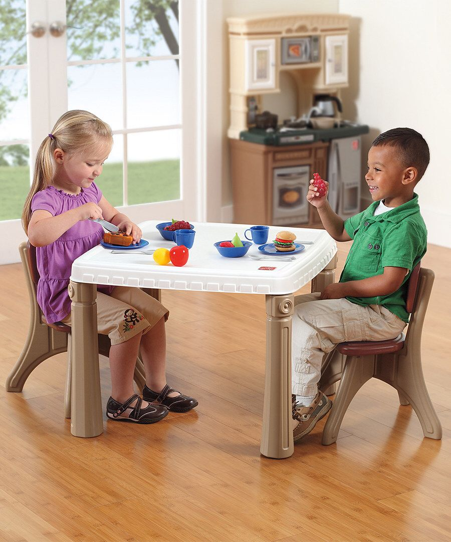 Look at this Step2 Tan Lifestyle Kitchen Table & Chairs Set on ...