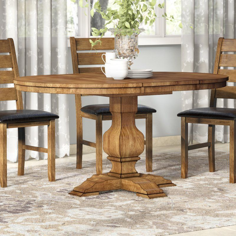 Fortville Extendable Solid Wood Dining Table Dining Table Solid
