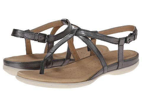 Ecco Flash T Strap Sandal Dark Shadow Metallic, Ecco, Shoes