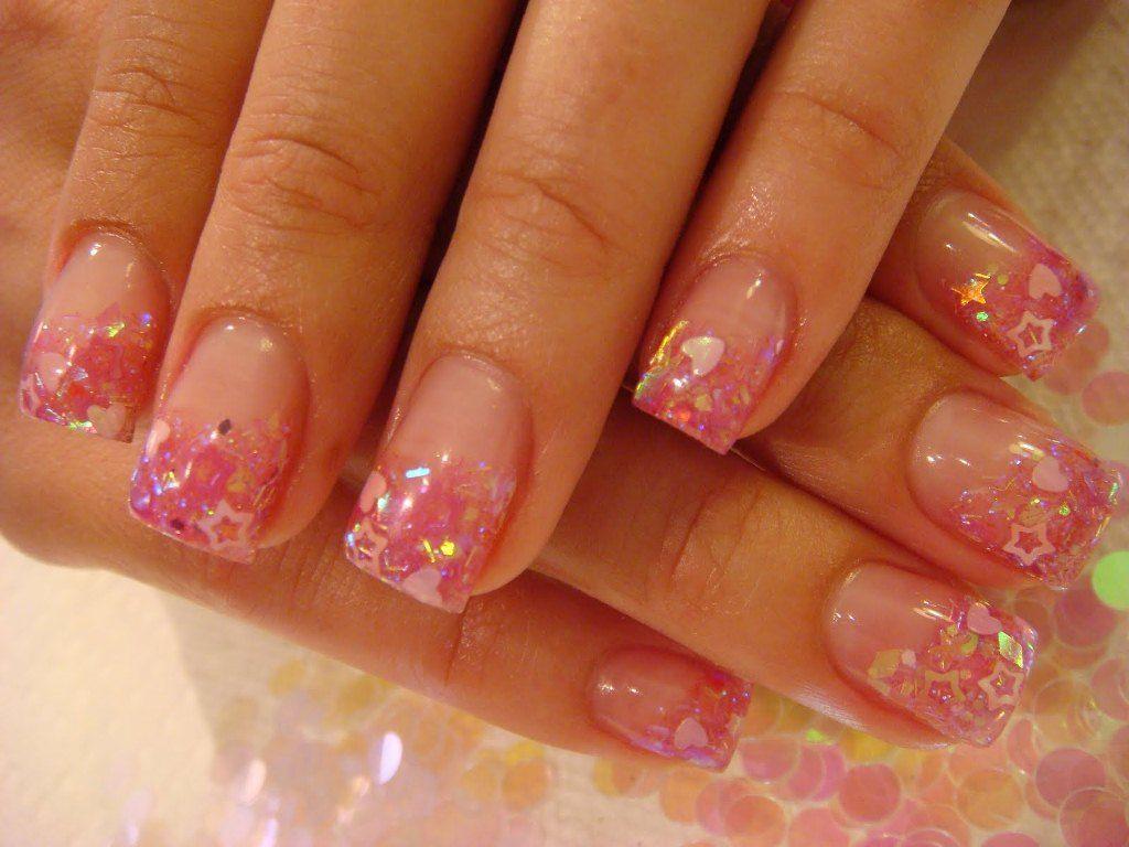 black and pink acrylic nail tips - Google Search | Cool Nail Ideas ...