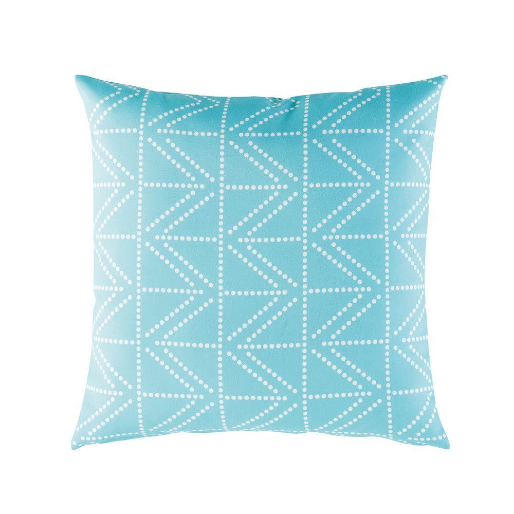 coussin d 39 ext rieur bleu motifs graphiques blancs 45x45 maisons du monde le printemps de. Black Bedroom Furniture Sets. Home Design Ideas