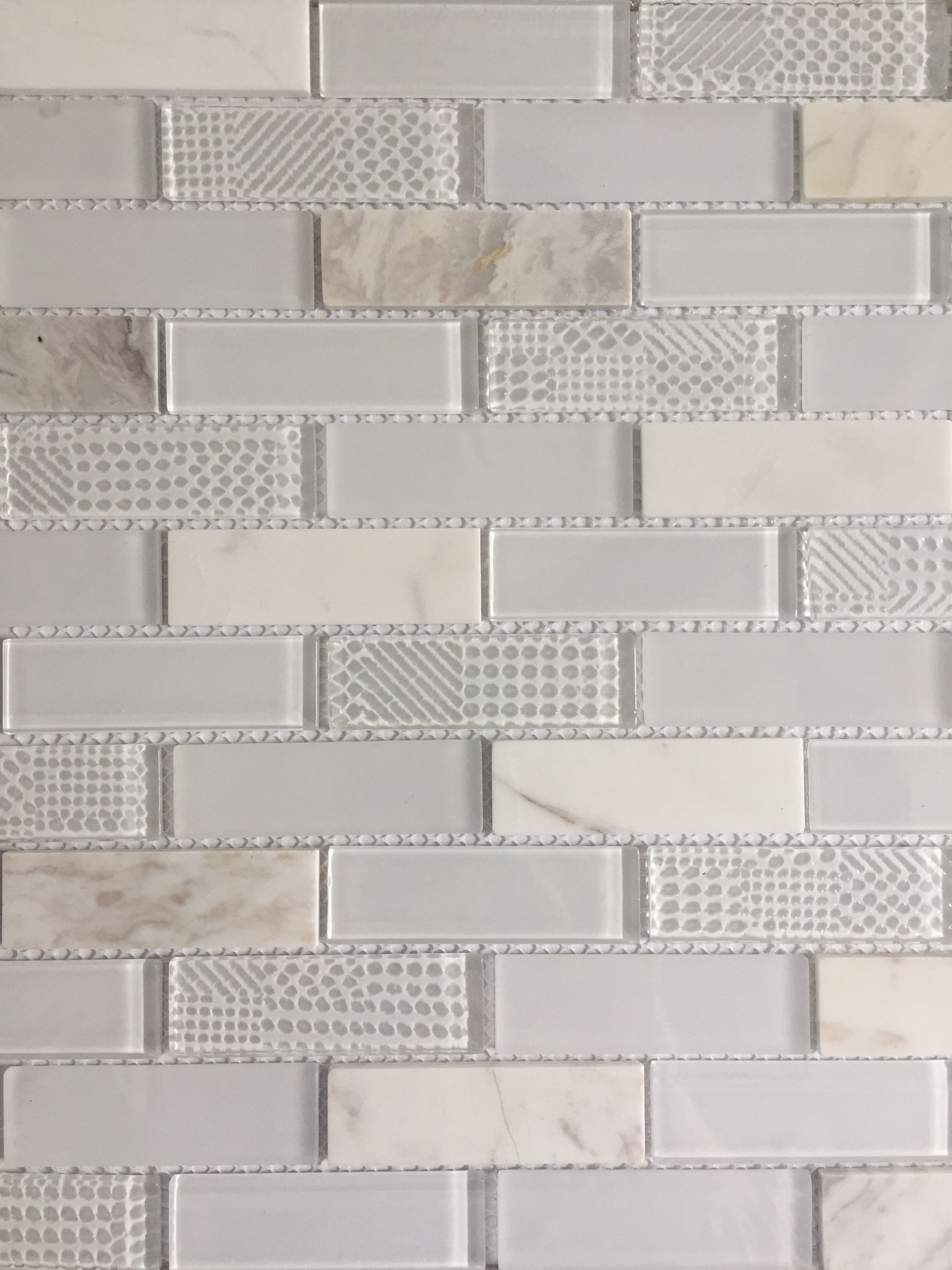 Avenzo Glacier Ice Mosaic Tile From Lowes Got For Downstairs Bath