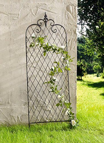 rankgitter raute metall rankhilfe gartendeko rosens ule rosengitter kletterrose balkon garten. Black Bedroom Furniture Sets. Home Design Ideas