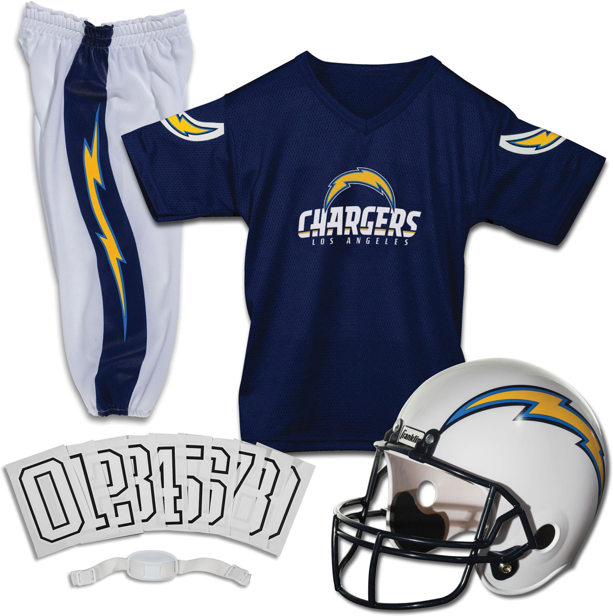 Franklin Los Angeles Chargers Youth Deluxe Uniform Set