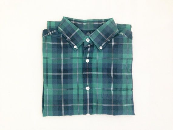 Green Plaid Oversized Flannel Shirt by modayarte on Etsy, $24.00