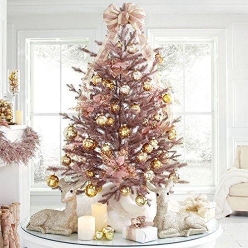 BrylaneHome 4\u0027 Rose Gold Christmas Tree (Rose Gold,0