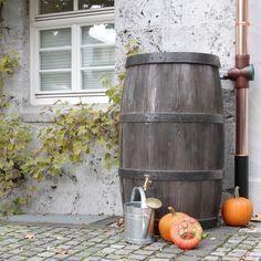 Regenfass Wasserfass Burgund 500 L Braun