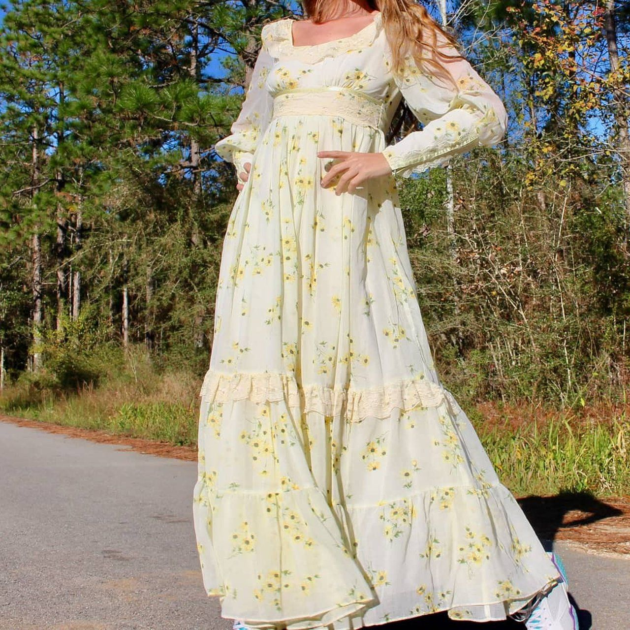 f7de5d72a3 Rare vintage sunflower Gunne Sax dress.Perfect condition. Fits like a  small.Chest is 14
