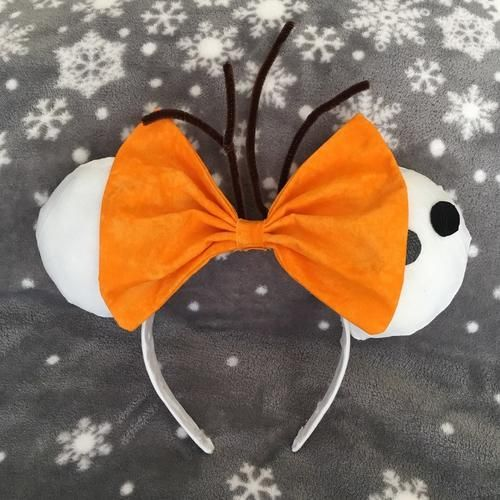 Olaf Custom Disney Ears, for sale now if you click through to the link! Disney ears Olaf frozen custom for sale Disneyland