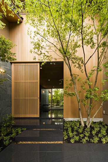 House in nara uemachi laboratory modern entrances for House gate design architecture