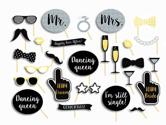Wedding Photo Booth Props Wedding Photobooth Props Wedding Signs