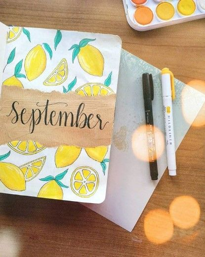 September Bullet Journal Ideas #septemberbulletjournalcover