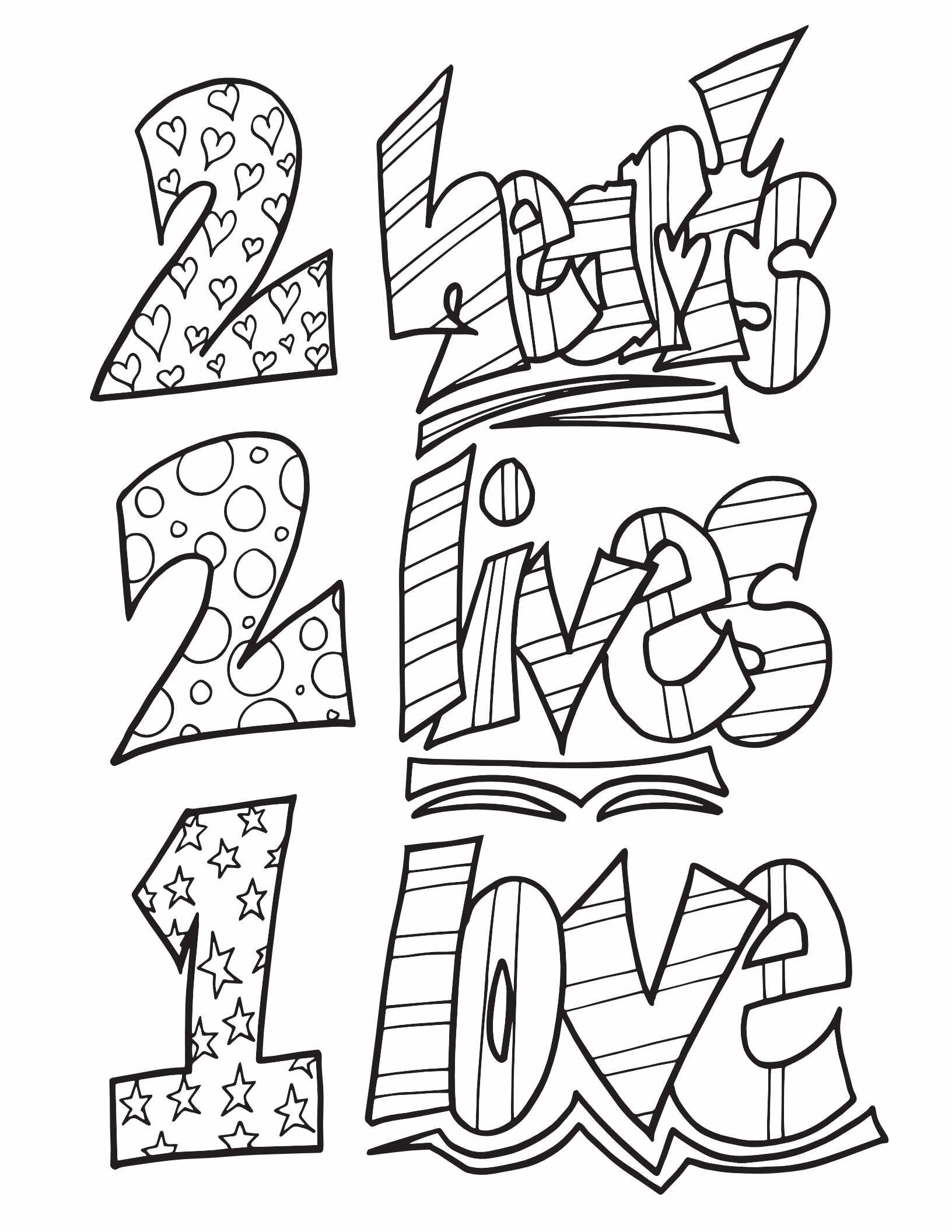 2 HEARTS 2 LIVES 1 LOVE - Free Printable Coloring Page Search over 1000  free coloring page… in 2020 | Free printable coloring pages, Coloring pages,  Coloring pages to print