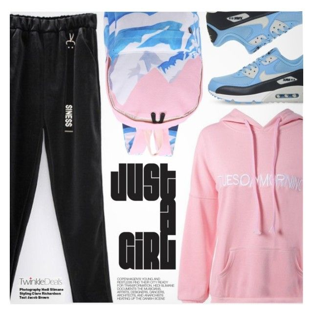 """""""Sporty Style"""" by pokadoll ❤ liked on Polyvore featuring NIKE, Hedi Slimane, polyvoreeditorial and polyvoreset"""