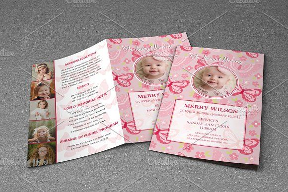 Child Funeral Program Template By Madhabi Studio On Creativemarket