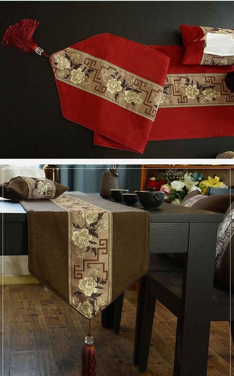 Rose High Grade Chinese Table Runners Tv Cabinet Cover Cloth Bed Flag Tea Table In 2020 Chinese Table Table Cloth Fancy Table #table #cover #for #living #room