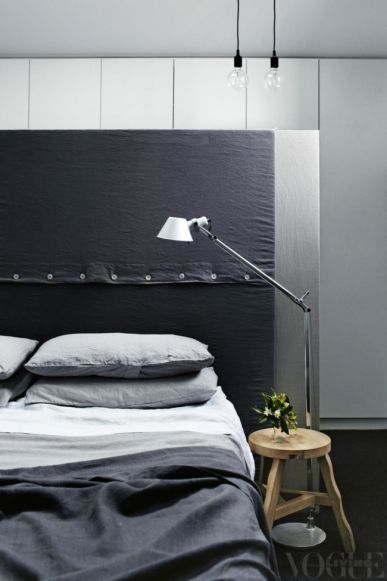 Varying shades of grey bedlinen by Bedouin Societe #sheets #bedlinen #homeinteriors linen, bespread, duvet cover | See more at www.plumesilk.com