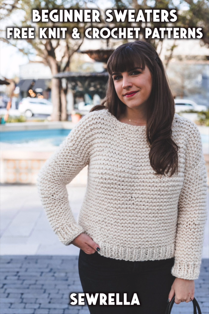 Photo of Beginner Sweaters – free knit & crochet patterns