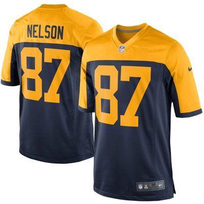 Men's Green Bay Packers Jordy Nelson Nike Navy Alternate Game Jersey