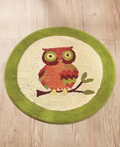 NEW Owl Bathroom Floor Rug Bath Mat