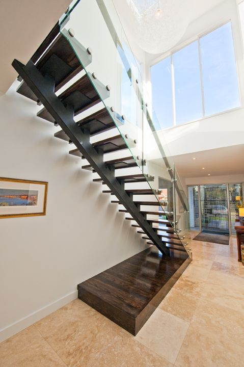 Best Stair Feature American Oak Dark Stain Patch Fitted 400 x 300
