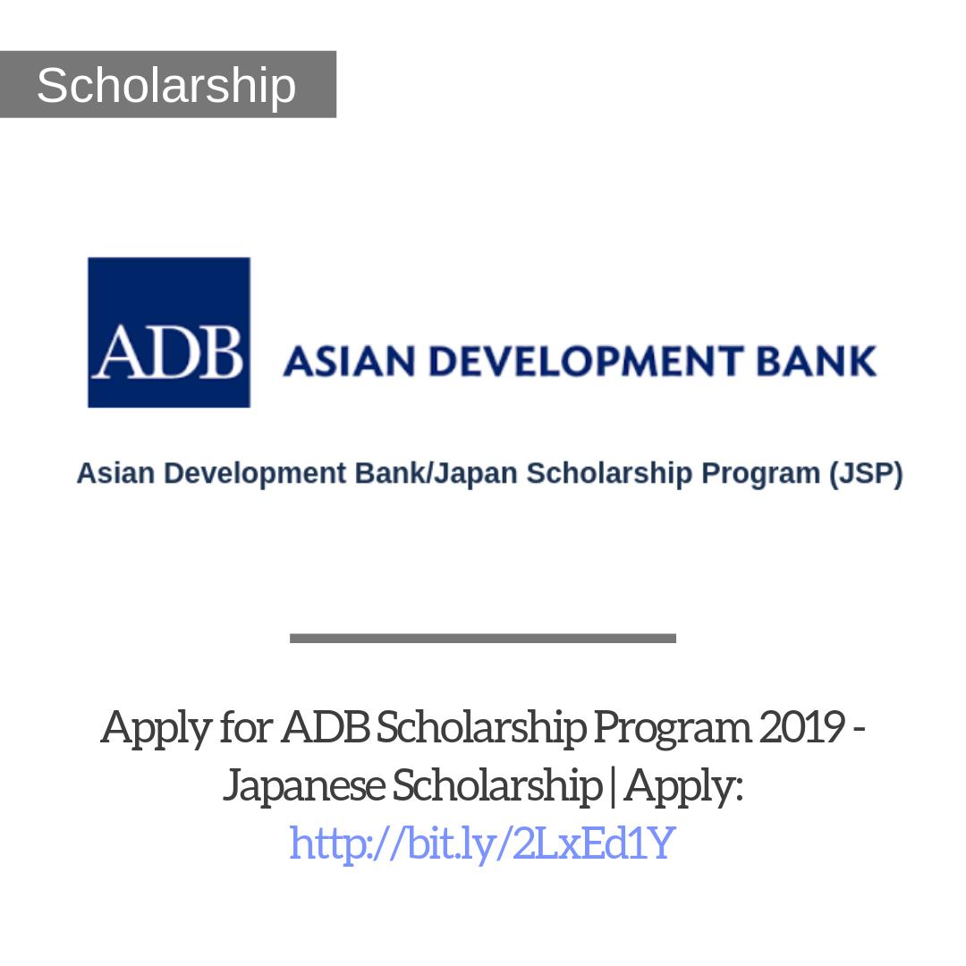 Asian Development Bank Adb Scholarship Program 2019 Trendingopps Scholarships Study Program How To Apply