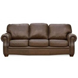 Rockford Caribou Leather Sofa By United