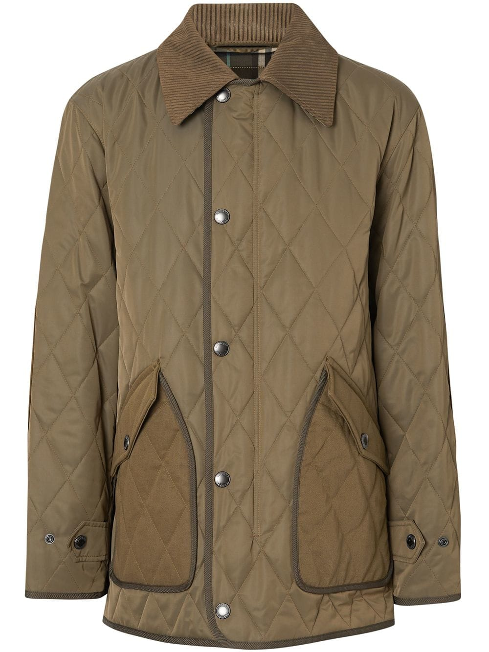 Burberry Quilted Barn Jacket Green Modesens Jackets Mens Jackets Down Jacket