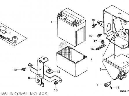Honda Cb250 Two Fifty 1992 n Spain Battery battery Box