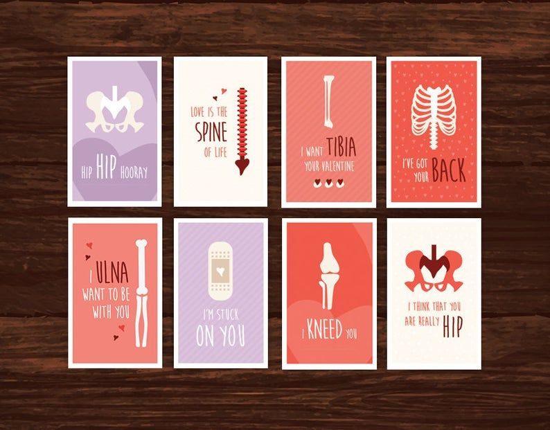 Funny Medical Bones Valentine S Day Card Download 8 Etsy Printable Valentines Cards Valentines Cards Printable Cards