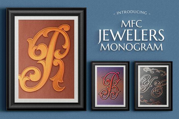 MFC Jewelers Monogram by Monogram Fonts Co. on @creativemarket