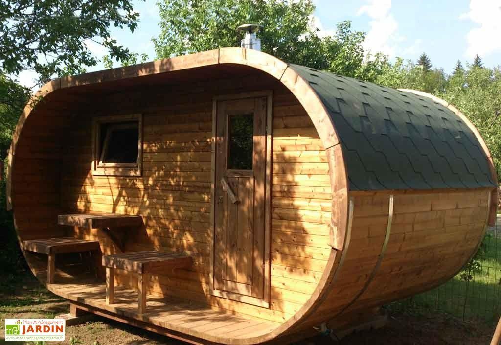 Sauna DExtrieur Oval Pole En Option  Abri En Bois Paroi Et Pole