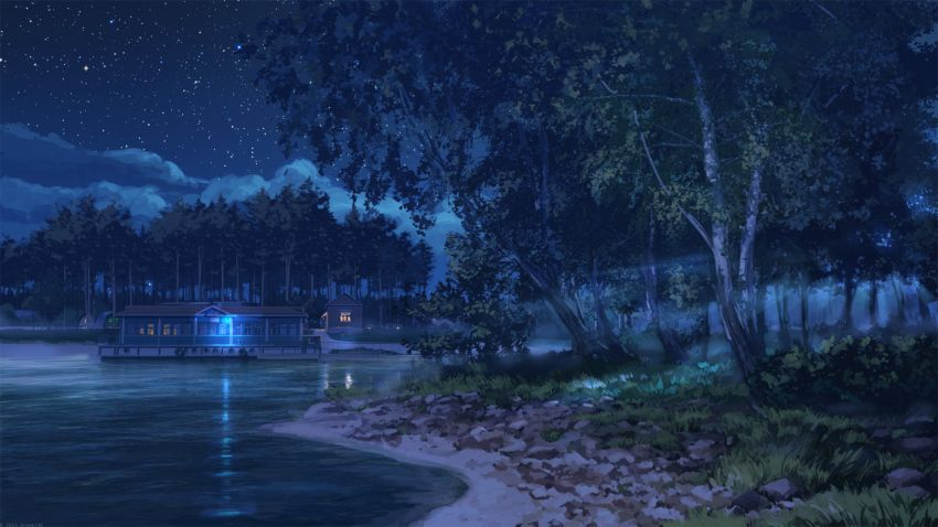 collection image wallpaper: Anime Backgrounds Night