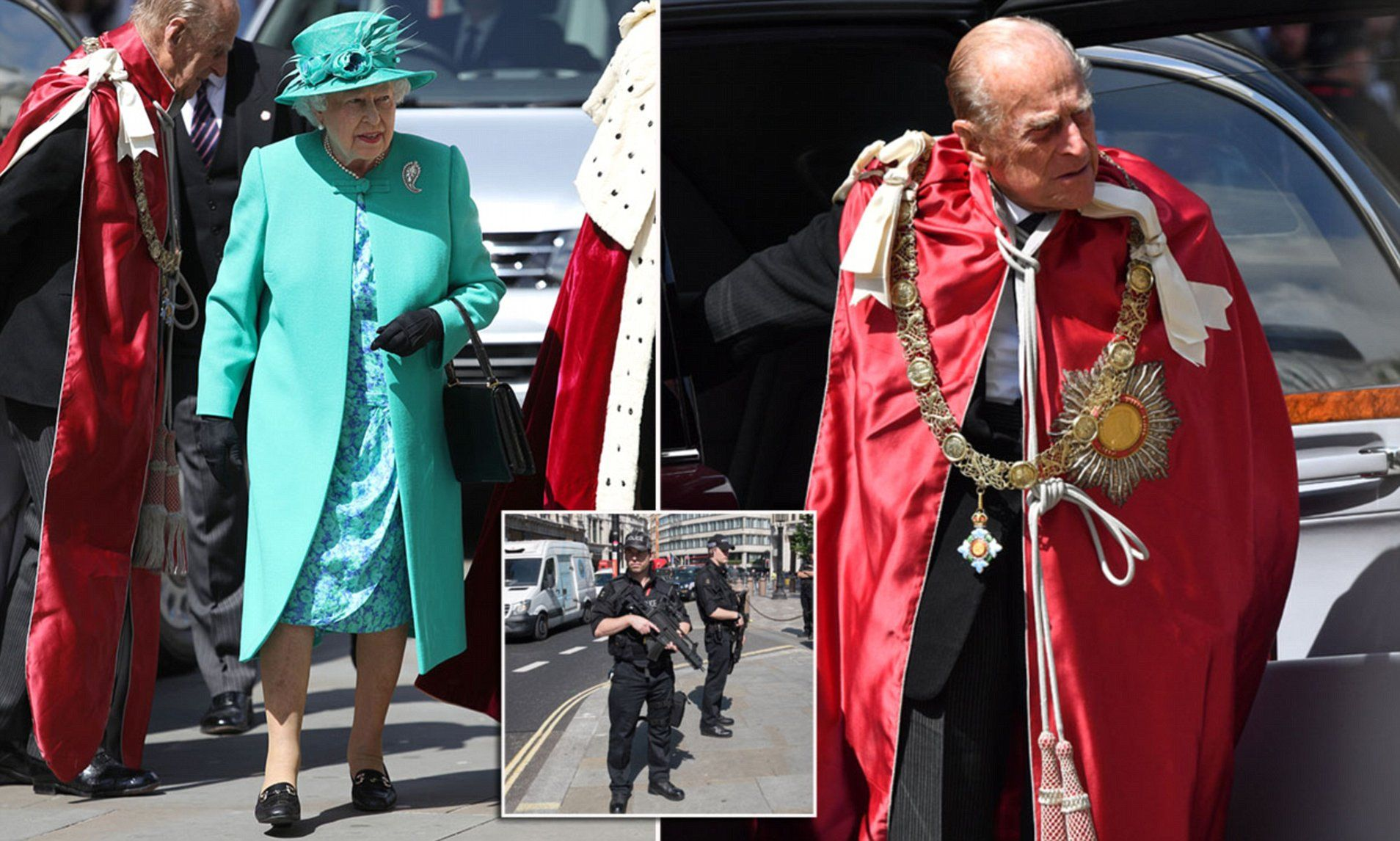 The Queen arrived at St Paul's Cathedral where she led worshippers at a specialservice of dedication and thanks for the Order of the British Empire ahead of its centenary next month.