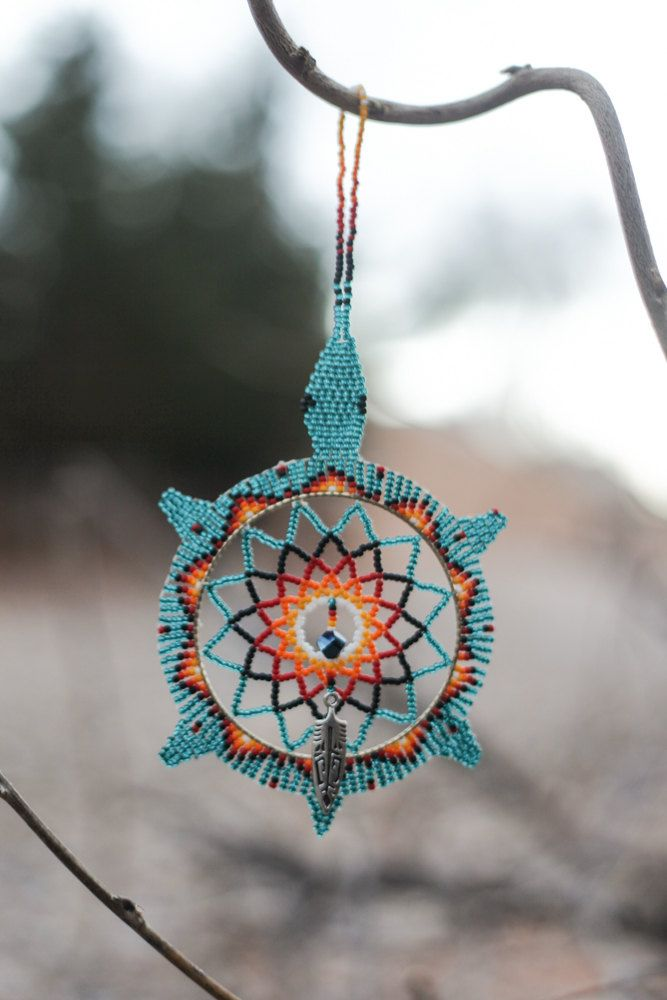 Native american oglala lakota handmade beaded by for Dreamcatcher beads meaning